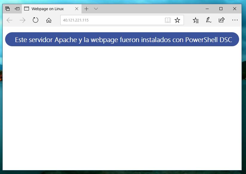 PowerShell DSC en Linux: Web Server